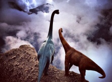 Jorge Saenz photography dinosaurs overlooking world