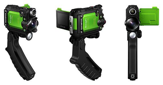 Olympus Underwater camera Tough Tracker with pistol grip